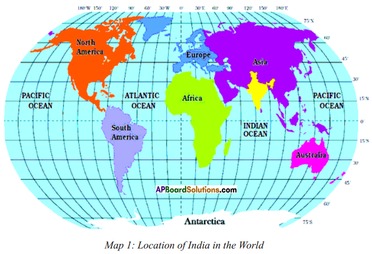 AP SSC 10th Class Social Studies Solutions Chapter 1 India Relief Features Q1