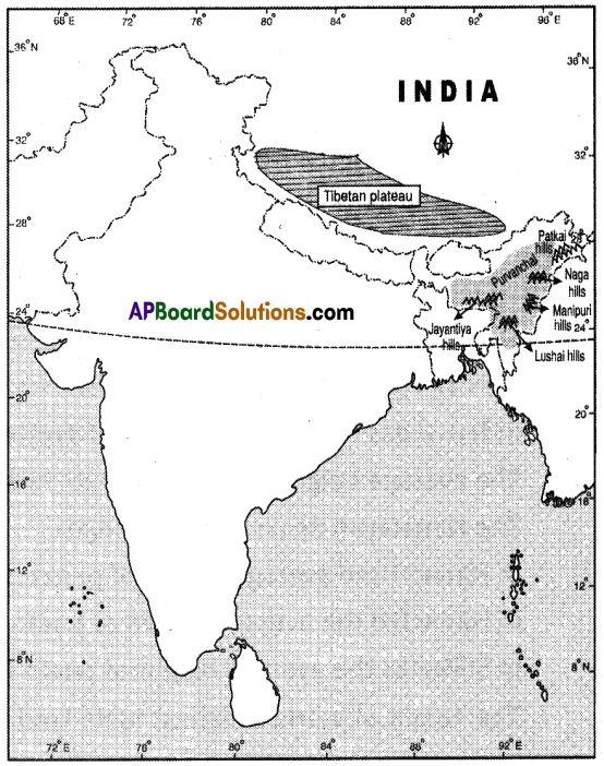 AP SSC 10th Class Social Studies Solutions Chapter 1 India Relief Features Q17