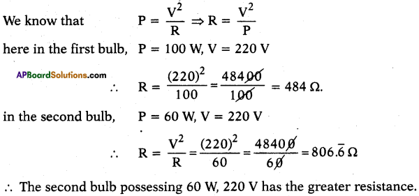 AP SSC 10th Class Physics Solutions Chapter 11 Electric Current 8