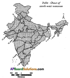 AP SSC 10th Class Social Studies Important Questions Chapter 4 Climate of India 2