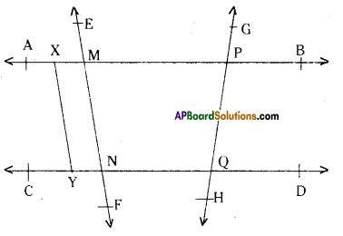 AP Board 9th Class Maths Solutions Chapter 4 Lines and Angles Ex 4.1 1