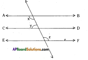 AP Board 9th Class Maths Solutions Chapter 4 Lines and Angles Ex 4.3 2