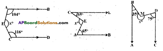 AP Board 9th Class Maths Solutions Chapter 4 Lines and Angles Ex 4.3 23
