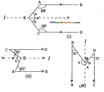 AP Board 9th Class Maths Solutions Chapter 4 Lines and Angles Ex 4.3 24