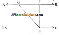 AP Board 9th Class Maths Solutions Chapter 4 Lines and Angles Ex 4.3 3