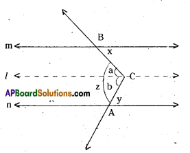 AP Board 9th Class Maths Solutions Chapter 4 Lines and Angles Ex 4.3 7
