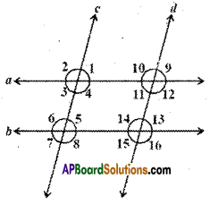 AP Board 9th Class Maths Solutions Chapter 4 Lines and Angles Ex 4.3 9