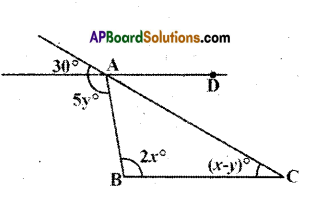 AP Board 9th Class Maths Solutions Chapter 4 Lines and Angles Ex 4.4 5