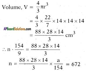 AP SSC 10th Class Maths Solutions Chapter 10 Mensuration Ex 10.4 12