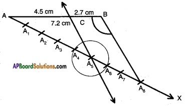 AP SSC 10th Class Maths Solutions Chapter 8 Similar Triangles Ex 8.1 11