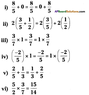 AP Board 8th Class Maths Solutions Chapter 1 Rational Numbers Ex 1.1 1