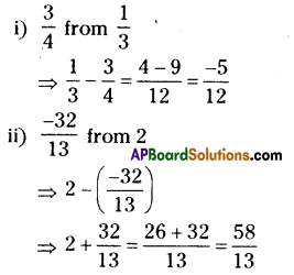 AP Board 8th Class Maths Solutions Chapter 1 Rational Numbers Ex 1.1 9