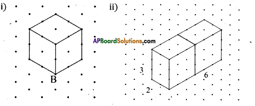 AP Board 8th Class Maths Solutions Chapter 13 Visualizing 3-D in 2-D Ex 13.1 2