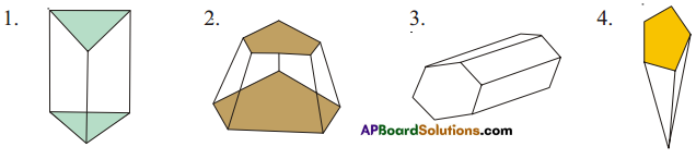 AP Board 8th Class Maths Solutions Chapter 13 Visualizing 3-D in 2-D Ex 13.2 1