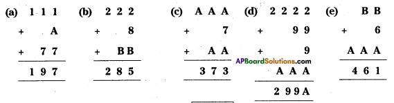 AP Board 8th Class Maths Solutions Chapter 15 Playing with Numbers Ex 15.5 1