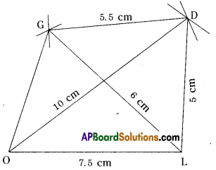 AP Board 8th Class Maths Solutions Chapter 3 Construction of Quadrilaterals Ex 3.3 1