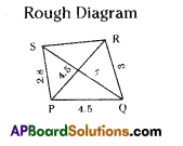 AP Board 8th Class Maths Solutions Chapter 3 Construction of Quadrilaterals Ex 3.3 3