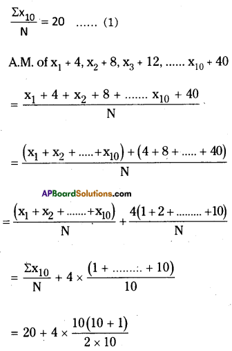 AP Board 8th Class Maths Solutions Chapter 7 Frequency Distribution Tables and Graphs Ex 7.1 11