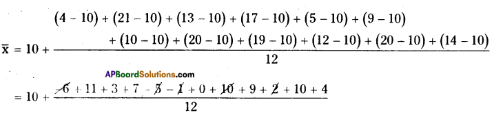 AP Board 8th Class Maths Solutions Chapter 7 Frequency Distribution Tables and Graphs Ex 7.1 12