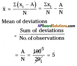 AP Board 8th Class Maths Solutions Chapter 7 Frequency Distribution Tables and Graphs Ex 7.1 6