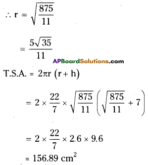 AP Board 9th Class Maths Solutions Chapter 10 Surface Areas and Volumes InText Questions 15