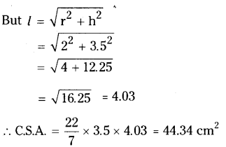 AP Board 9th Class Maths Solutions Chapter 10 Surface Areas and Volumes InText Questions 22