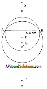 AP Board 9th Class Maths Solutions Chapter 12 Circles Ex 12.3 4