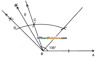 AP Board 9th Class Maths Solutions Chapter 13 Geometrical Constructions Ex 13.1 10