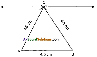 AP Board 9th Class Maths Solutions Chapter 13 Geometrical Constructions Ex 13.1 11