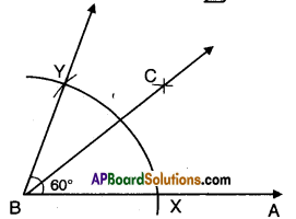 AP Board 9th Class Maths Solutions Chapter 13 Geometrical Constructions Ex 13.1 5