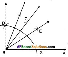 AP Board 9th Class Maths Solutions Chapter 13 Geometrical Constructions Ex 13.1 6