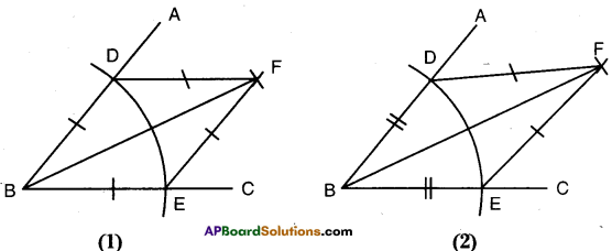 AP Board 9th Class Maths Solutions Chapter 13 Geometrical Constructions InText Questions 1