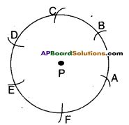 AP Board 9th Class Maths Solutions Chapter 13 Geometrical Constructions InText Questions 2
