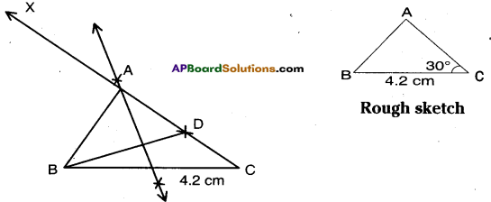 AP Board 9th Class Maths Solutions Chapter 13 Geometrical Constructions InText Questions 4