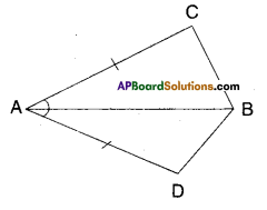 AP Board 9th Class Maths Solutions Chapter 7 Triangles Ex 7.1 1