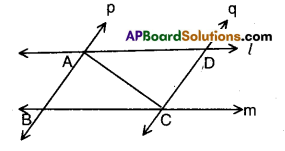 AP Board 9th Class Maths Solutions Chapter 7 Triangles Ex 7.1 4
