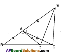 AP Board 9th Class Maths Solutions Chapter 7 Triangles Ex 7.1 5