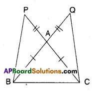 AP Board 9th Class Maths Solutions Chapter 7 Triangles Ex 7.1 9