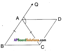 AP Board 9th Class Maths Solutions Chapter 8 Quadrilaterals Ex 8.3 5