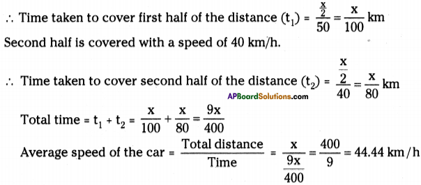AP Board 9th Class Physical Science Solutions Chapter 1 Motion 18