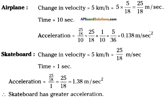 AP Board 9th Class Physical Science Solutions Chapter 1 Motion 37