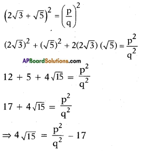 AP SSC 10th Class Maths Solutions Chapter 1 Real Numbers Optional Exercise 1