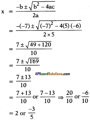 AP SSC 10th Class Maths Solutions Chapter 5 Quadratic Equations Ex 5.3 6
