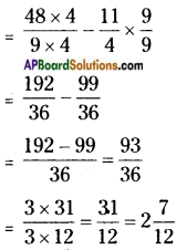 AP Board 6th Class Maths Solutions Chapter 5 Fractions and Decimals Unit Exercise 1