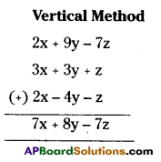 AP Board 7th Class Maths Solutions Chapter 10 Algebraic Expressions Ex 4 3