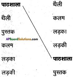 AP Board 6th Class Hindi Solutions सन्नद्धता कार्यक्रम Chapter 1 पाठशाला में पहला दिन 7