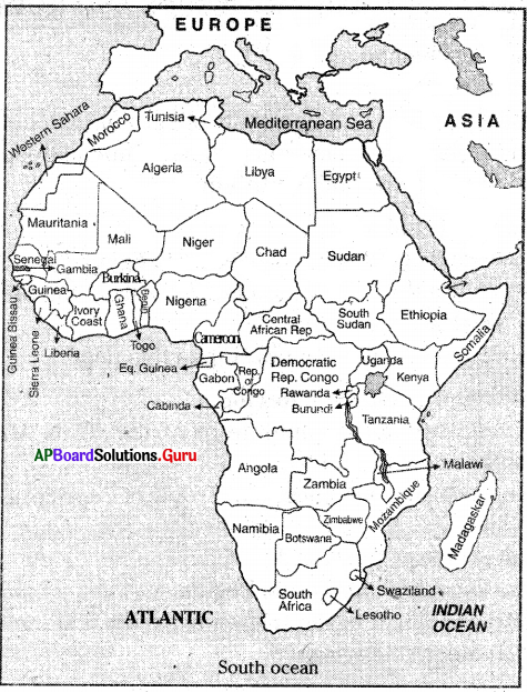 AP 7th Class Social Important Questions Chapter 6 Africa 4