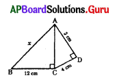 AP 10th Class Maths Bits Chapter 8 Similar Triangles with Answers 1