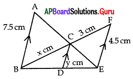 AP 10th Class Maths Bits Chapter 8 Similar Triangles with Answers 10