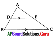 AP 10th Class Maths Bits Chapter 8 Similar Triangles with Answers 11